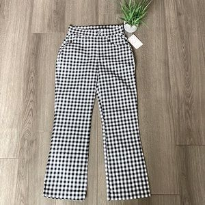 Free People Florence Crop Flare Pants Gingham XS